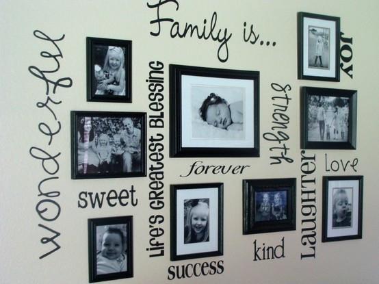 Надписи семья это радость успех