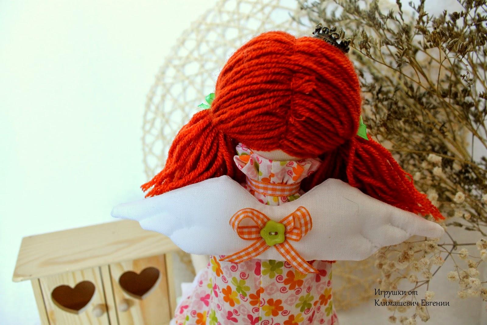 Принцесса на горошине, тильда принцесса, кукла тильда, рыжая кукла