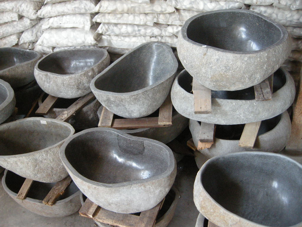 Stone Bowl Basin : River Stone Sink for sale from IndoGemstone.com