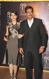 Kajol and Ajay at GQ Men of the Year Awards