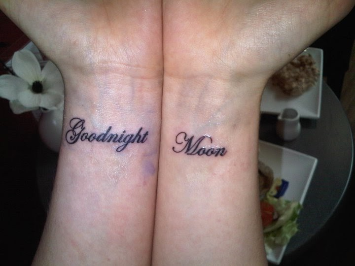 A heart with a tail tattoo vs marriage for Goodnight moon tattoos