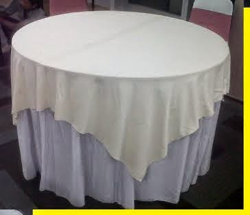 taplak meja bulat