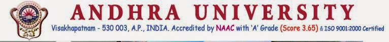 Andhra University BE, Btech Results 2014