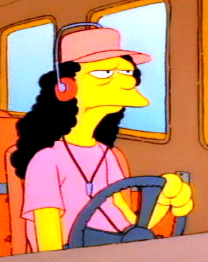 simpsons bus driver