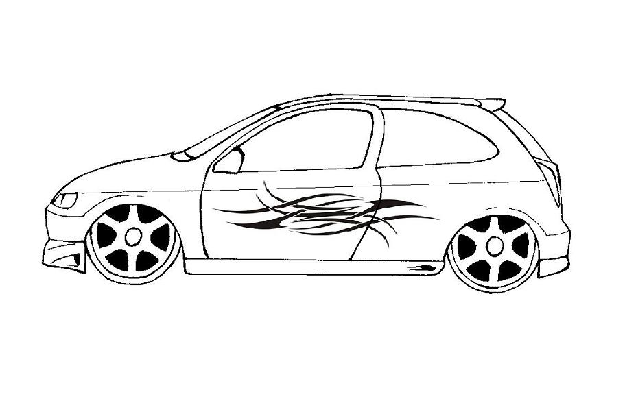 Resultado de imagem para desenhos de carros rebaixados gol