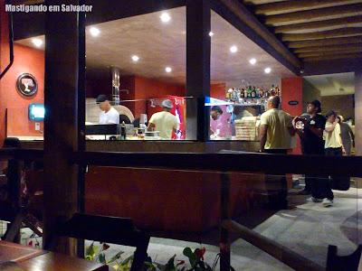 Pizza da Chapada: Vista da cozinha