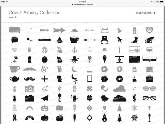 Cricut Artistry Images - 700 images
