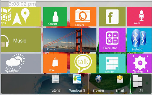 Windows 8 Launcher Apk Aplikasi tema Android