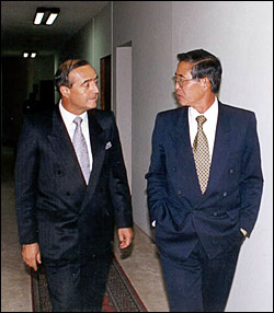 Vladimiro Montesinos y Alberto Fujimori