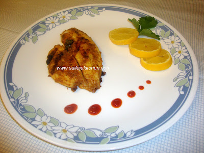 image of Masala Grilled Fish Recipe / Grilled Fish Recipe