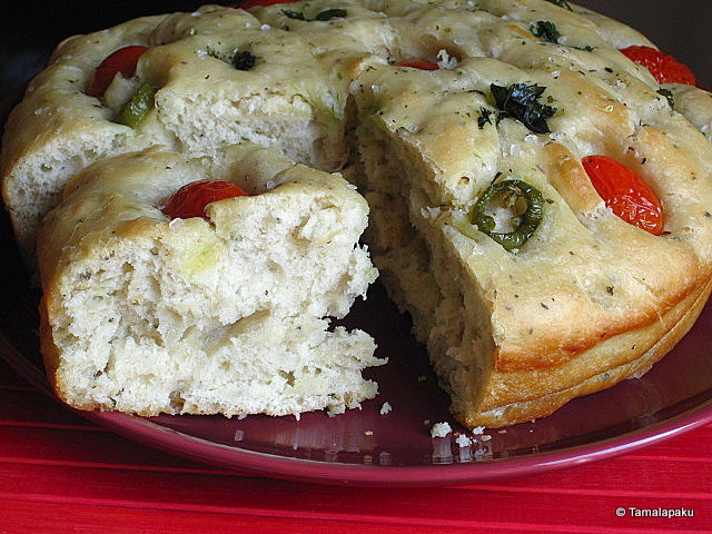 Herbed Spicy Focaccia Bread