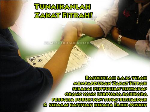 info kadar bayaran zakat fitrah setiap negeri 2012