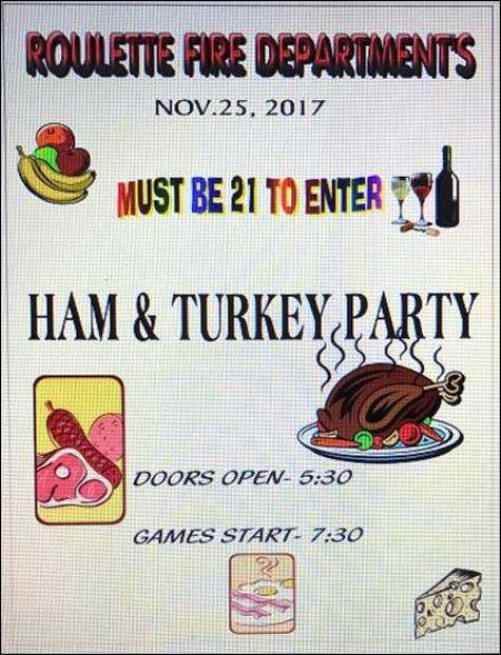 11-25 Ham & Turkey Party, Roulette VFD