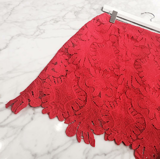 One Piece Ten Ways | Red Lace Skirt