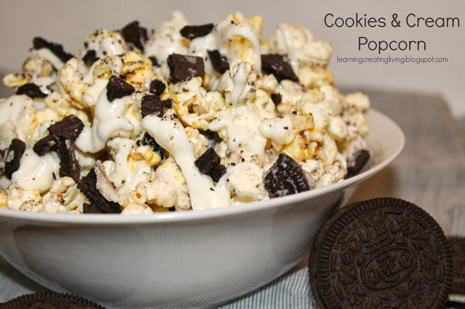 Learning, Creating, Living.: Cookies & Cream Popcorn