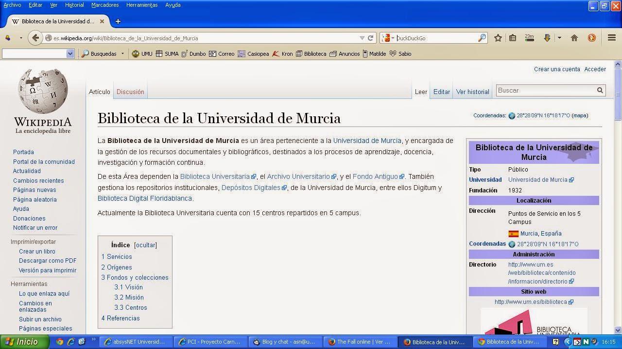 La BUM en la Wikipedia.