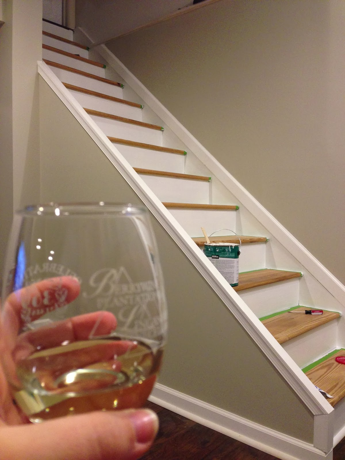 refinishing basement stairs part 1