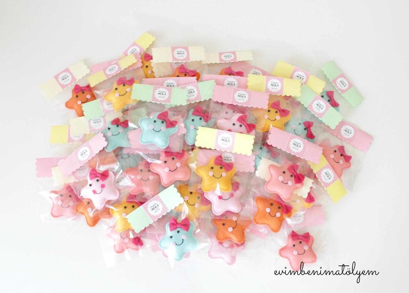 keçe bebek şekeri yıldız