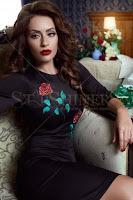 Rochie StarShinerS Brodata Rose Elixir Black (StarShinerS)