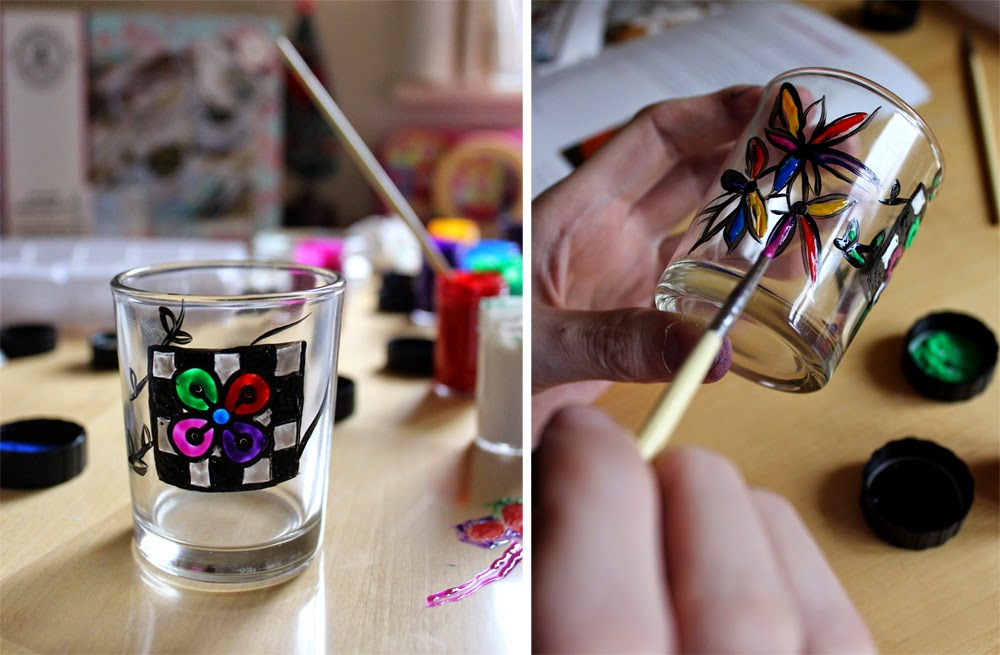 arts and crafts, christmas magic, glass painting, todaymyway.com