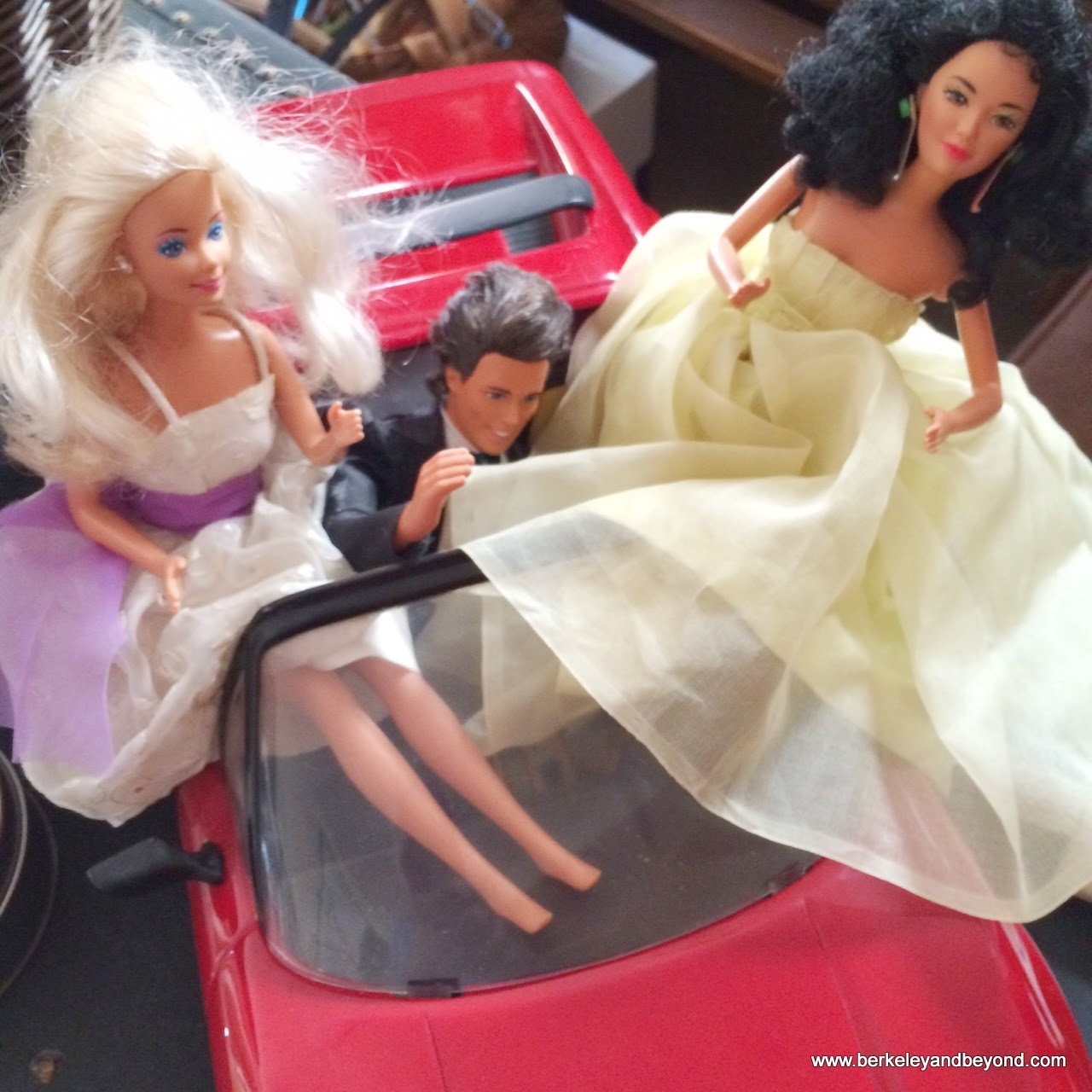 prom dresses repurposed into dresses for Barbie