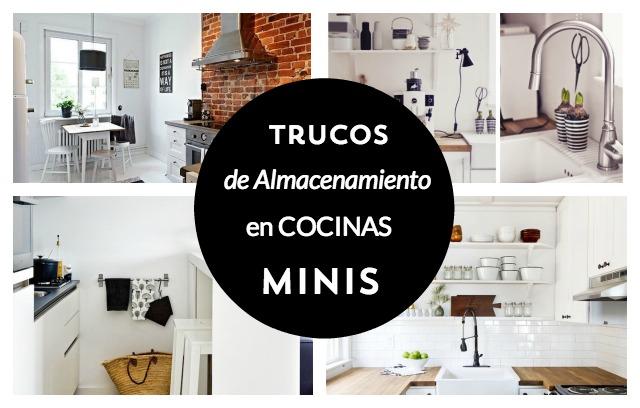 Trucos de almacenamiento en cocinas minis