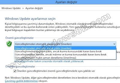 Windows 8 Güncelleme Ayarları