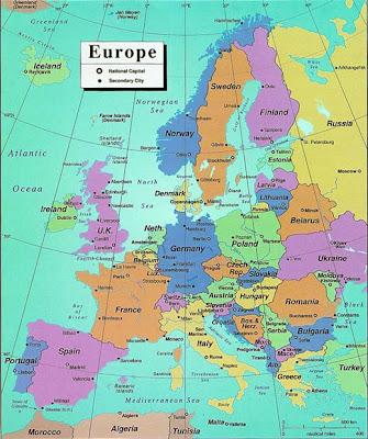 Karte von Europa Politische Bild