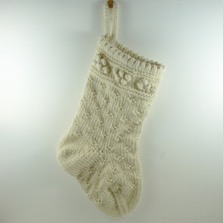 hand knit stocking wool roving cream white