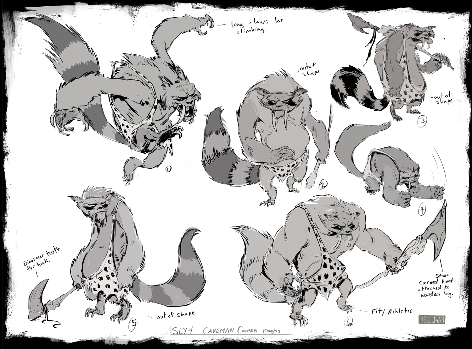 Character Design Sketches For Sly on oscar gutierrez with angie