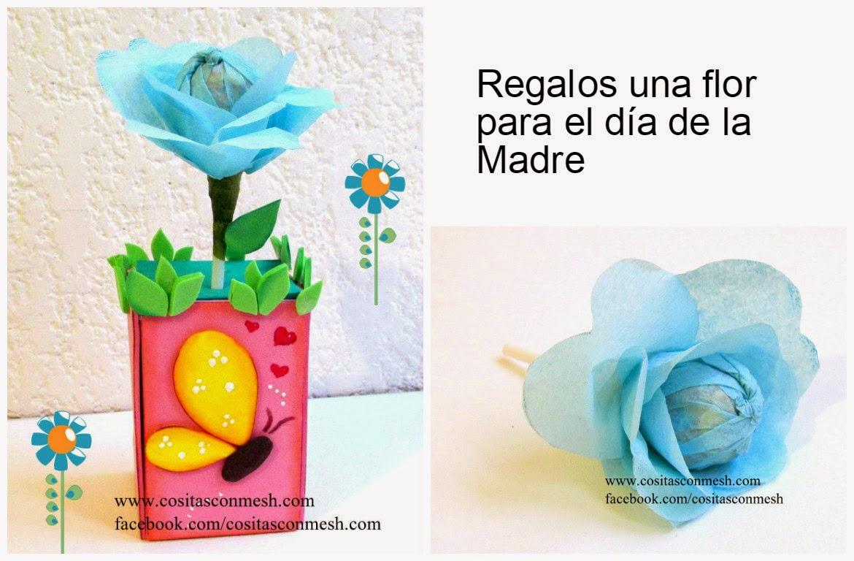 Regalos una flor para el d a de la madre manualidades - Regalos para mama manualidades ...