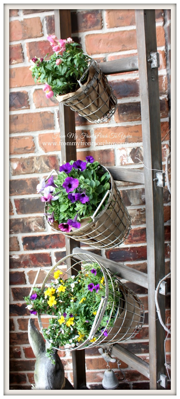 Farmhouse White Wire Baskets-Design Ingenuity Event- Decor Steals-From My Front Porch To Yours