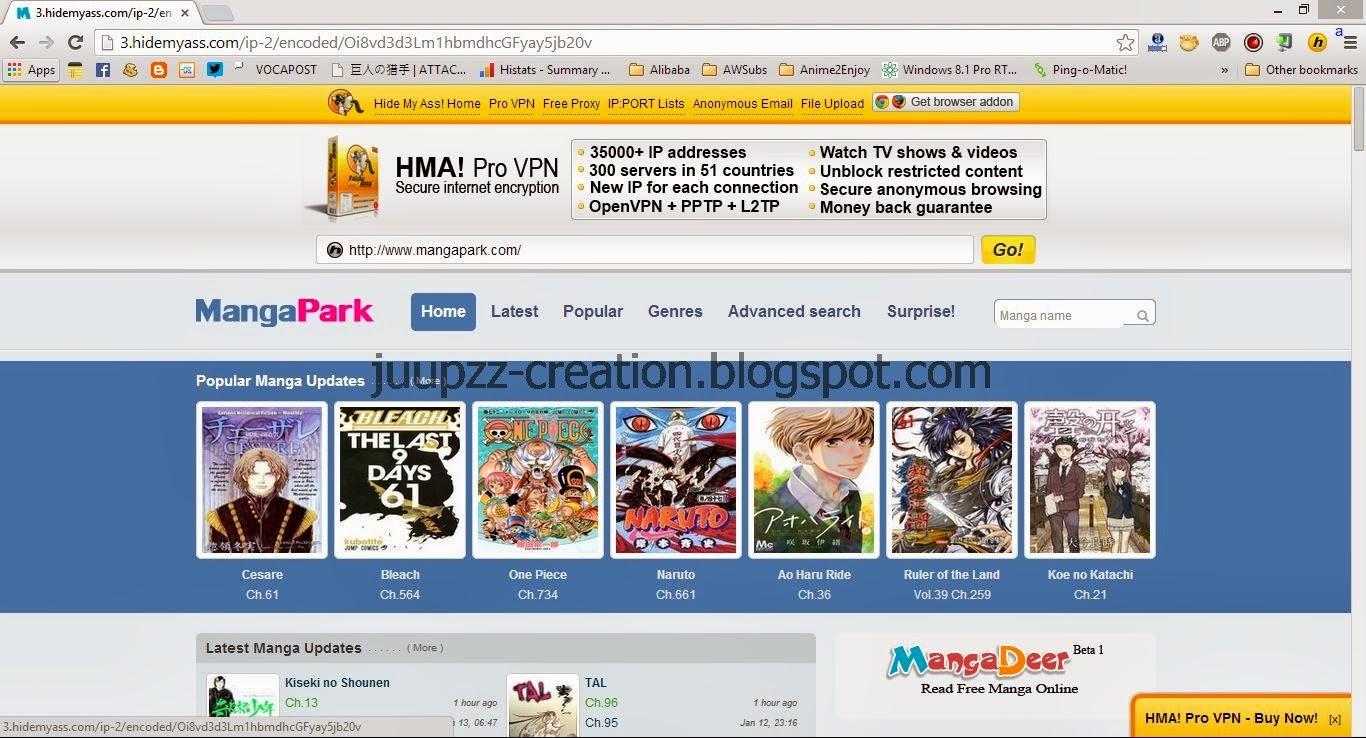 Voila! Situs yang terblokir dapat terbuka. (situs mangapark.com ...