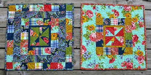 Dover Flannel  made into mini-quilts at Freemotion by the River