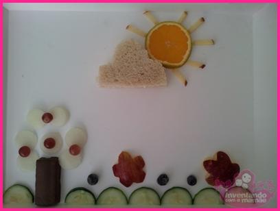 Comida divertida Jardim de frutas