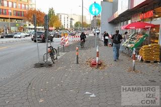 Hoheluftchaussee - Baustelle