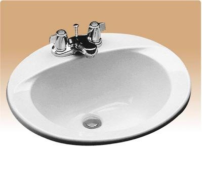 Kohler Ada Sinks : Kohler K-2699-1 Drop In Oval Bathroom Sink with Center Drain from the ...