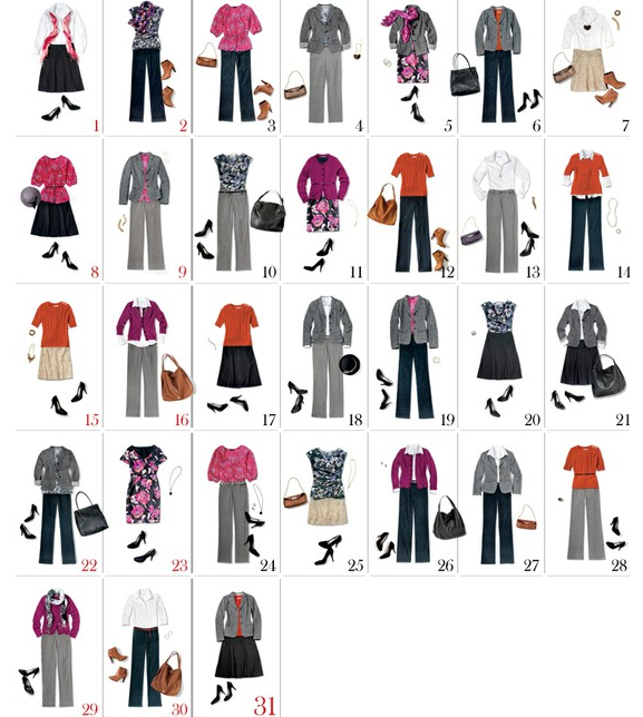 13 Pieces 31 Different Outfits by Money Saving Mom