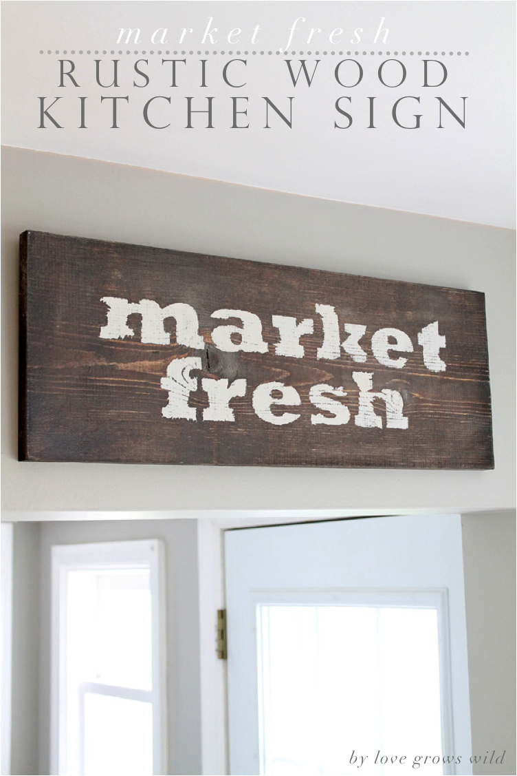 kitchen wooden sign | interior home page