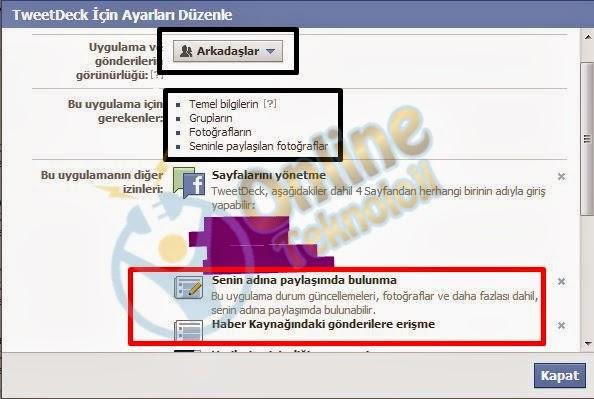 facebook uygulama kaldırma
