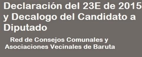 Declaración 23E y Decálogo del Parlamentario