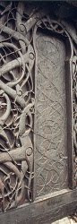 North (West?) portal of the Urnes stave church.