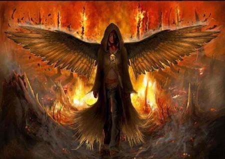 Bilder von bösen dunklen Engeln Dämonen
