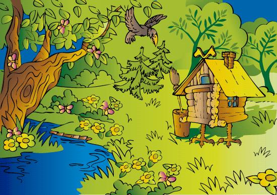 Cabaña del bosque de cuento