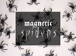 http://www.deliacreates.com/magnetic-spiders/