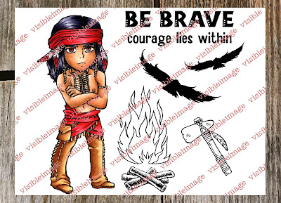 Silverheels Brave Stamp Set - Indian character - Tonto - visible image
