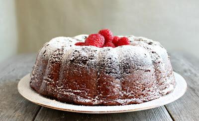 Chocolate Raspberry Swirl Bundt Cake