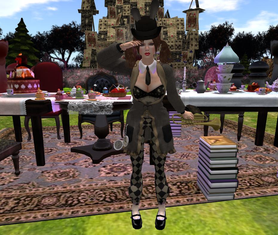 El traje de conejo incluye sombrero con orejitas, chaqueta, cuello de
