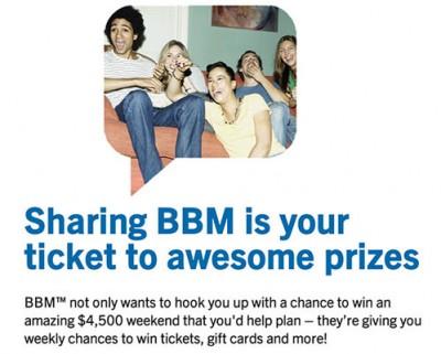 Bagikan PIN BBM, dan Menangkan Hadiah $ 4,500 Dari BlackBerry