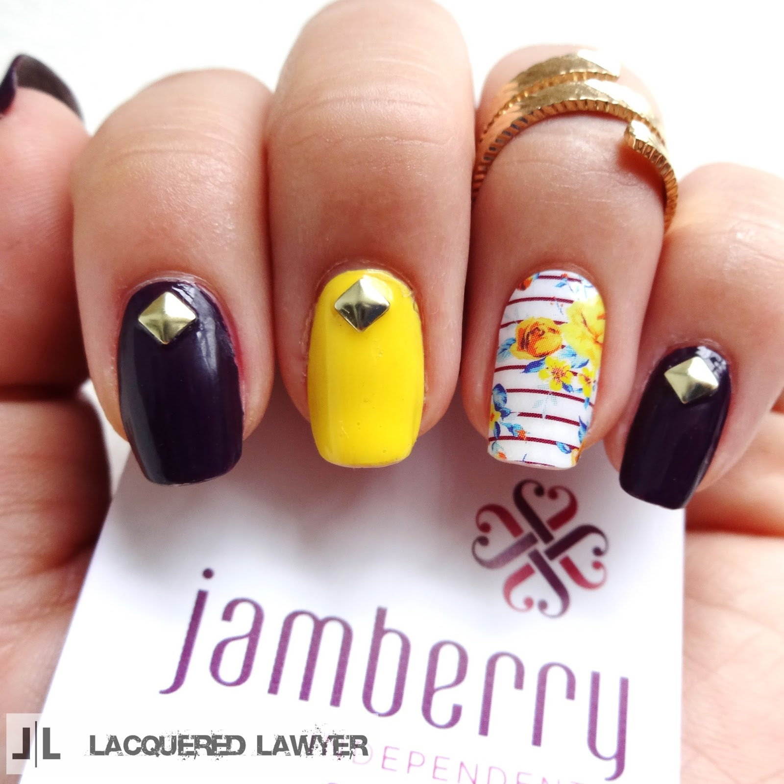 Jamberry Floral Nails